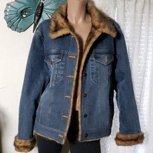 Marvin Richards Fur/Jean Jacket